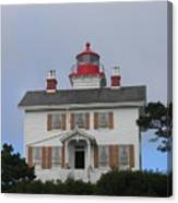 Light House On The Oregon Coast Canvas Print
