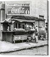 Light Lunch - Hot Dogs - Coca Cola Canvas Print