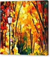 Light Of The Forest - Palette Knife Oil Painting On Canvas By Leonid Afremov Canvas Print