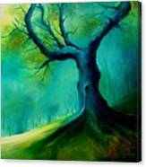 Light On A Dead Tree Canvas Print