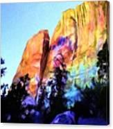 Light On Cliffs Canvas Print