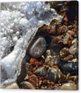 Light On Rocks And Ice  Canvas Print