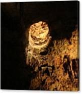 Light Peeks Through - Cave Canvas Print
