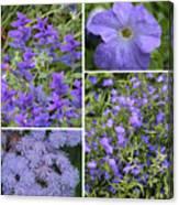 Light Purple Flowers Collage Canvas Print