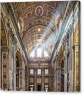Light Rays In St Peter's, Rome Canvas Print