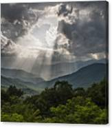 Light Show Before The Storm. Canvas Print