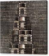 Light Tree With Dark Background Canvas Print
