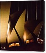 Light Up Sail Of Opera House  Canvas Print