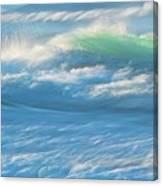 Light Wave at Asilomar, Pacific Grove, California Canvas Print