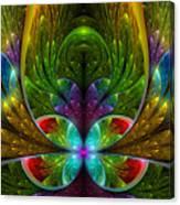 Lighted Flower Fractal Canvas Print