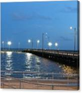 Lighted Pier Canvas Print