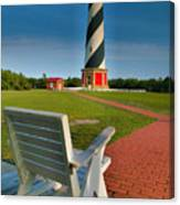 Lighthouse And Chair Canvas Print