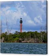 Lighthouse At Anclote Key Canvas Print