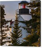 Lighthouse At Bass Harbor Canvas Print