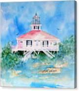 Lighthouse At Boca Grand Island Fl Canvas Print