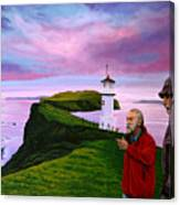 Lighthouse At Mykines Faroe Islands Canvas Print