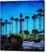 Lighthouse, Blue Lb Canvas Print