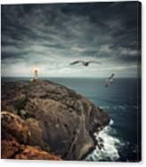 Lighthouse Cliff Canvas Print