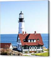 Lighthouse In Maine Canvas Print