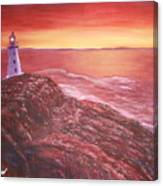 Lighthouse In Newfoundland Canvas Print
