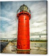 Lighthouse In South Haven Canvas Print