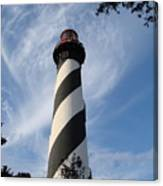 Lighthouse In St. Augustine Canvas Print