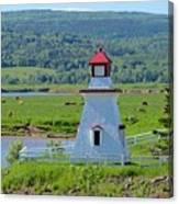 Lighthouse Landscape Three Canvas Print