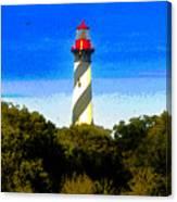 Lighthouse Of Saint Augustine Canvas Print