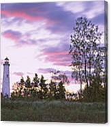 Lighthouse On A Landscape, Tawas Point Canvas Print
