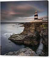 Lighthouse On Cliffs Canvas Print