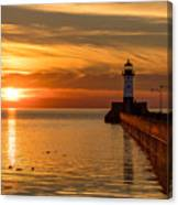 Lighthouse On Glass Canvas Print