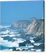 Lighthouse On The California Coast Canvas Print