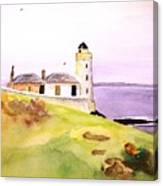 Lighthouse On The Isle Of May Canvas Print