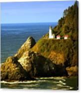 Lighthouse On The Oregon Coast Canvas Print