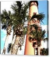 Lighthouse Palms Canvas Print