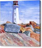 Lighthouse Peggys Cove Canvas Print