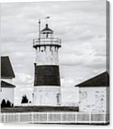 Lighthouse Point In Black And White #5 Canvas Print