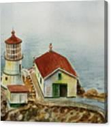 Lighthouse Point Reyes California Canvas Print