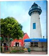 Lighthouse Seaside Cafe Canvas Print