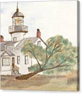 Lighthouse Sketch Canvas Print