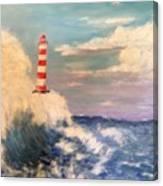 Lighthouse Under Lavender Sky Canvas Print