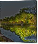 Lighting The Erie Canal Canvas Print