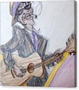 Lightnin Hopkins Blues Sketch Canvas Print