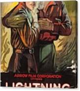 Lightning Bryce 1919 Canvas Print