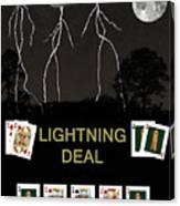 Lightning Deal  Poker Cards Canvas Print
