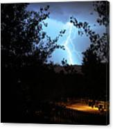 Lightning On The Distant Mountains Canvas Print