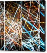 Lightpainting Quads Art Print Photograph 3 Canvas Print