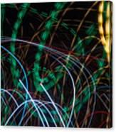 Lightpainting Single Wall Art Print Photograph 1 Canvas Print