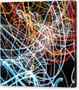 Lightpainting Single Wall Art Print Photograph 9 Canvas Print