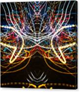 Lightpainting Symmetry Wall Art Print Photograph 1 Canvas Print